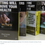 Federal Government's cigarette plain packaging policy is helping the drop in smokers' numbers