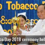 Myanmar: World No-Tobacco Day 2018 ceremony held in Nay Pyi Taw