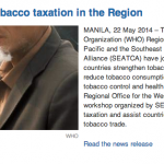 Strengthening tobacco taxation in the Region
