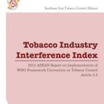 Tobacco Industry Interference Index, 2015