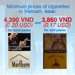 Vietnam increases minimum prices for cigarettes