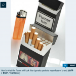 Green light for neutral pack of cigarettes