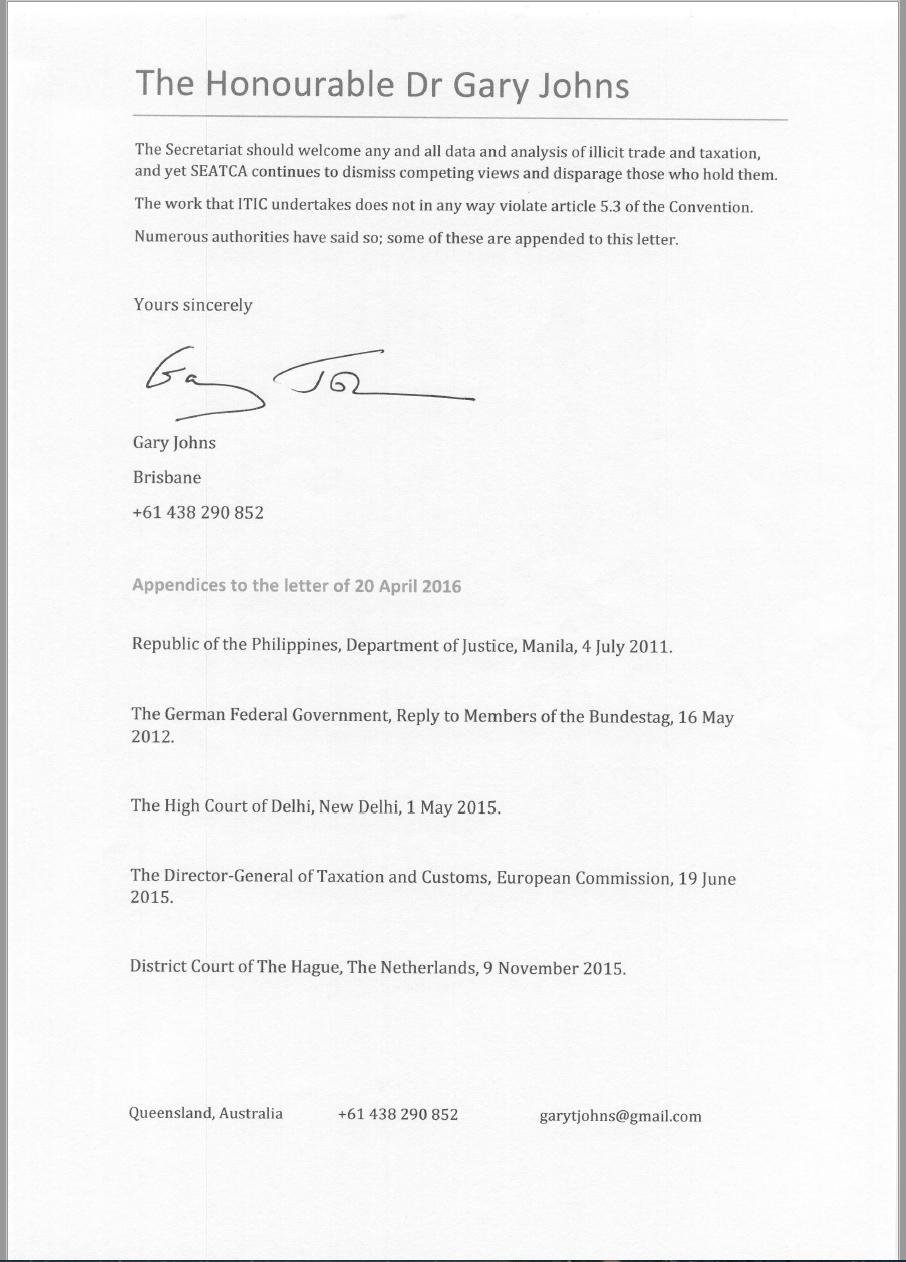 Dr Gary Johns letter3