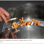 China's cigarette sales fall slightly after tobacco tax: WHO