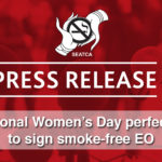 International Women's Day perfect time to sign smoke-free EO