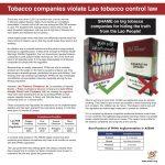 Tobacco companies violate Laos tobacco control law